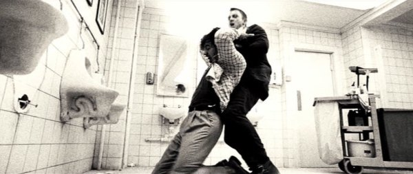 Casino Royale 007 Daniel Craig James Bond Bathroom opening sequence black and white