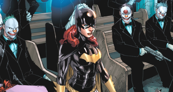 Batgirl #16 Ed Benes Barbara Gordon in the Church New 52 Joker