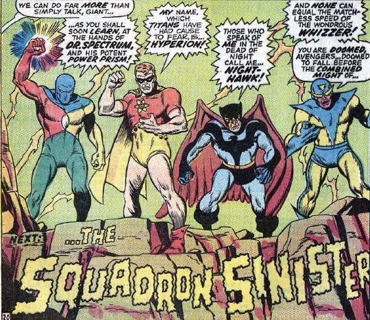 Marvel Comics Squadron Sinister DC Knockoffs